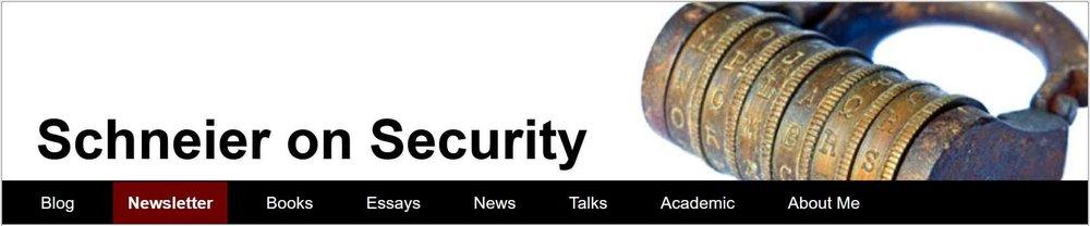 """Schneier on Security - """"Crypto-Gram"""" Newsletter"""