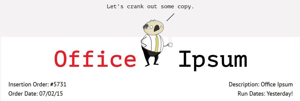 Office Ipsum - Screen Logo