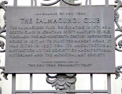 Landmarks of New York. THE SALMAGUNDI CLUB