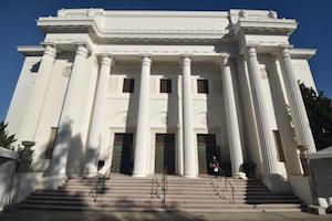 Headquarters of Internet Archive, located in the former Fourth Church of Christ, Scientist, a neoclassic building with Greek columns on Funston Avenue, in Richmond District, San Francisco, California .