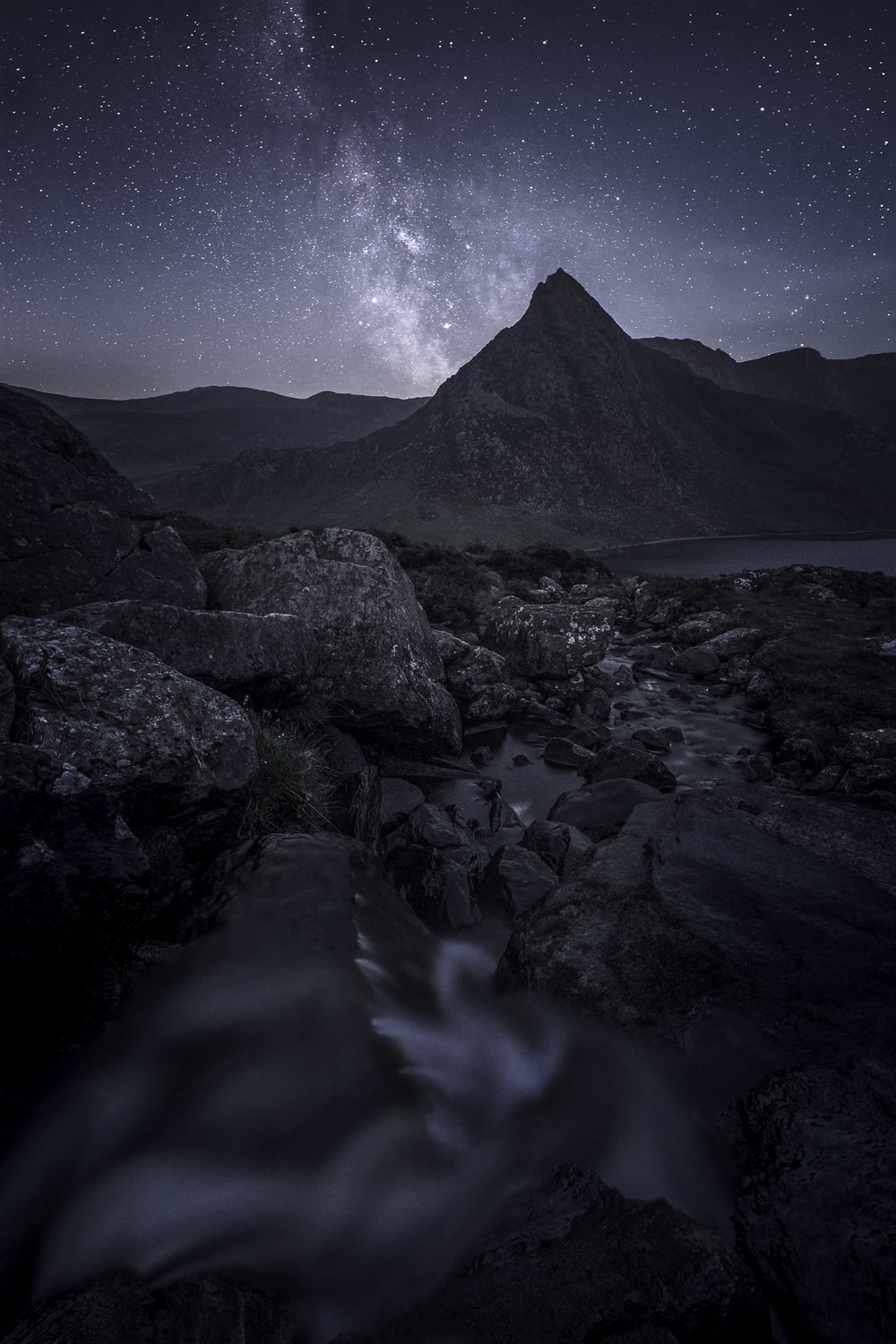 The Milky Way above Tryfan and the Ogwen Valley