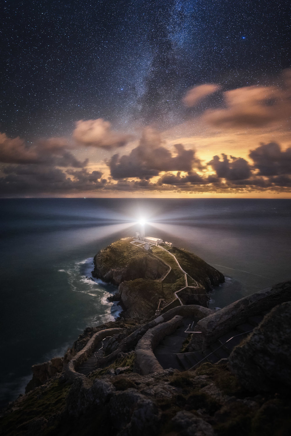 The Milky Way above South Stack Lighthouse