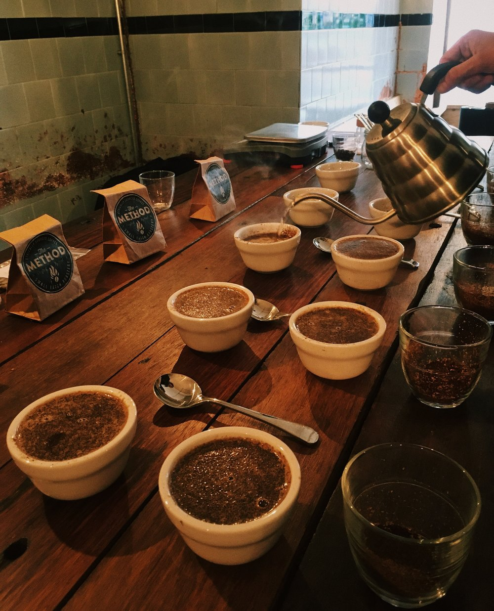 Coffee Cupping at our Coffee Discovery Event with Method Roastery