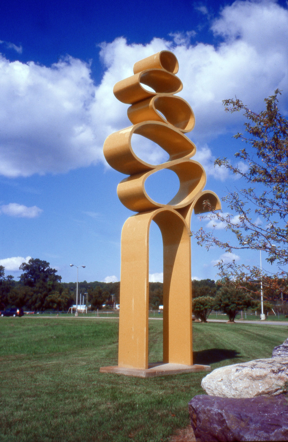 Stablitt 55  1977, painted steel, 26 x 13 x 2.5 feet  Rockaway Townsquare 301 Mount Hope Ave Rockaway, NJ