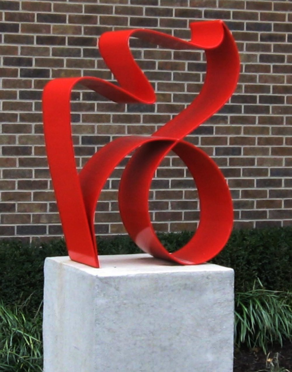 Continuity   1993, painted steel, 40x30x12 in  Installed in 2009 at Dallavis Center at Avila University Kansas City, MO