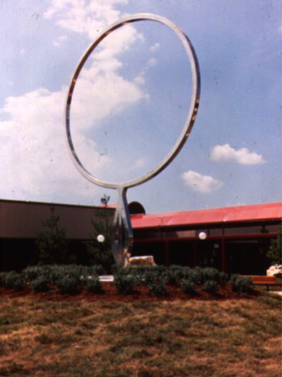 Infinity  1985, stainless steel, 16 ft tall    Originally installed in 1985 at Loehmann's Plaza St. Louis, MO