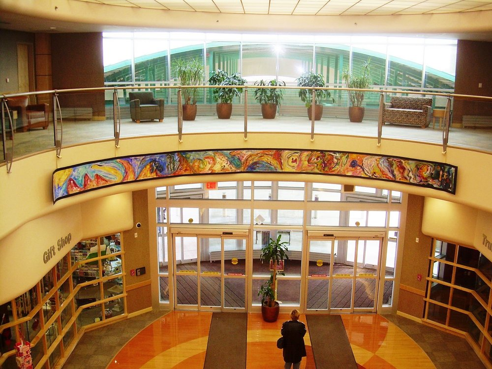 Magic Dreamland  1994, acrylic on wallpaper, 2x32 ft  Installed in 2008 at Truman Medical Center Lakewood Kansas City, MO