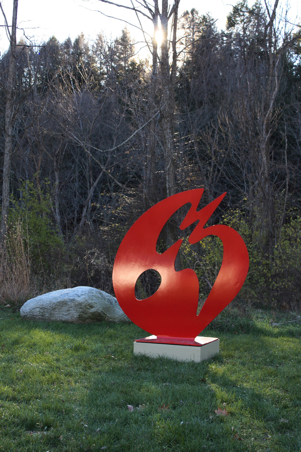 Time Arrow   2004, painted aluminum, 5.5x5.25 ft  Health Care and Rehabilitation Center Springfield, Vermont