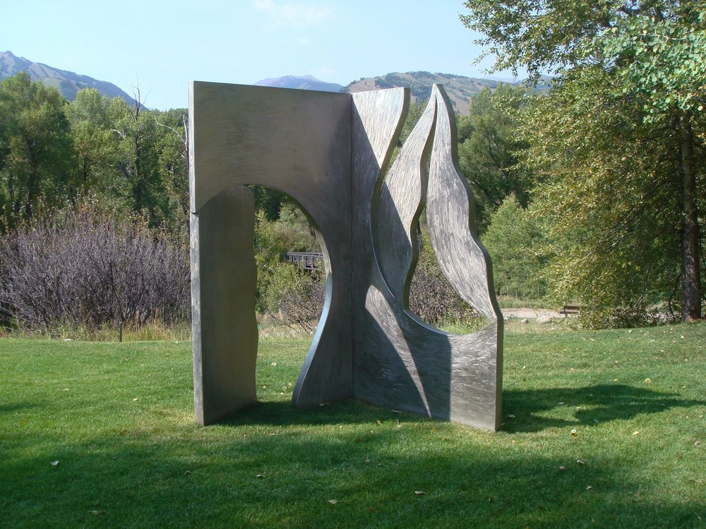 Seeking Truth  1992, stainless steel, 8.5x7.5x4 ft  Aspen, Colorado