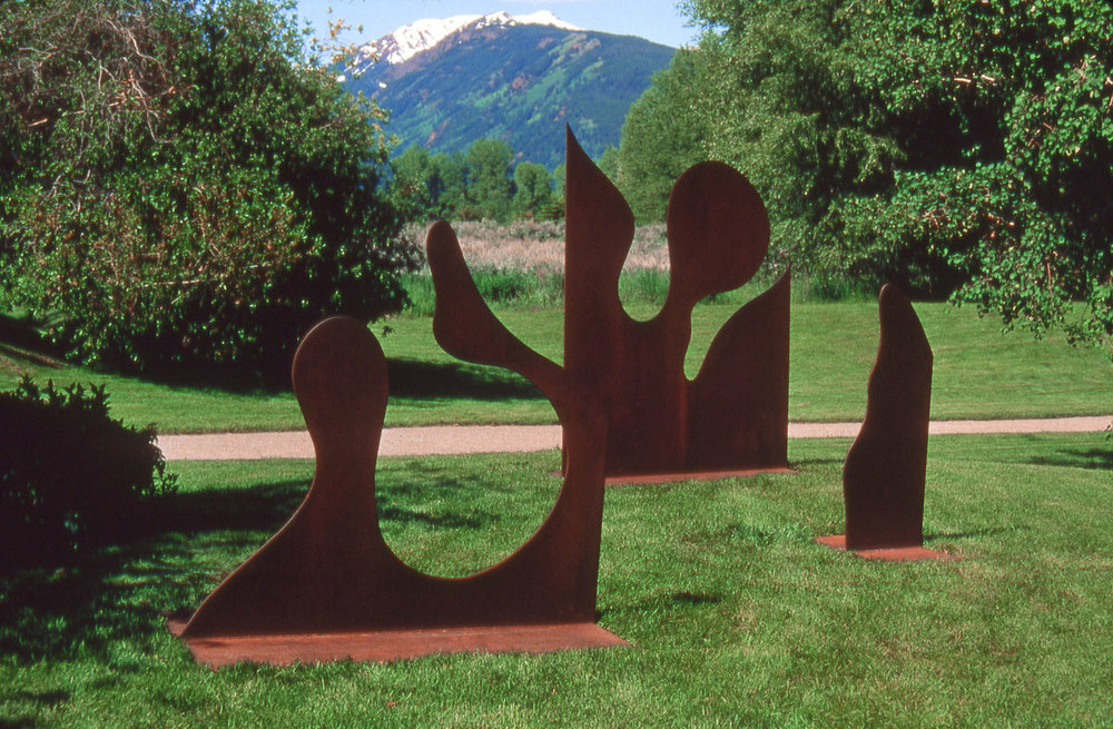 Separate but Together (Variation of Black Box II)  1990, corten steel, 5x12x8 ft  Aspen Institute Aspen, Colorado