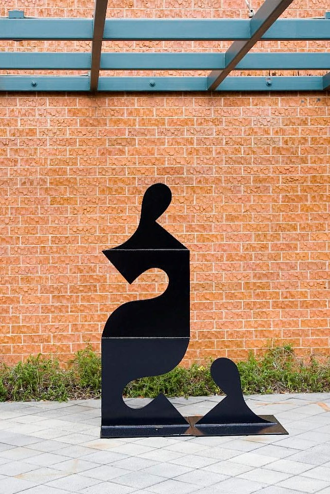 My Dear (variation of Black Box IX)  1990, aluminum, 7x5x2.5 ft  Longview Community College Lee's Summit, MO