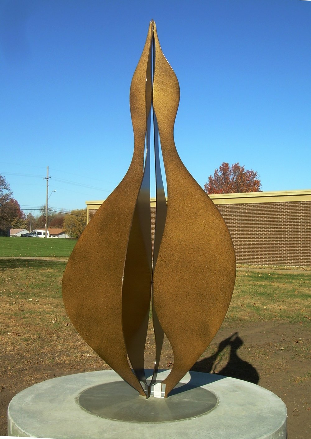 Together  2007, corten steel, 8x4x2 ft (four pieces)  Archbishop O'Hara High School Kansas City, MO