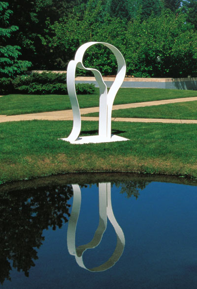 I Do  1990, painted aluminum, 77x44x12 in  Aspen Institute Aspen, Colorado
