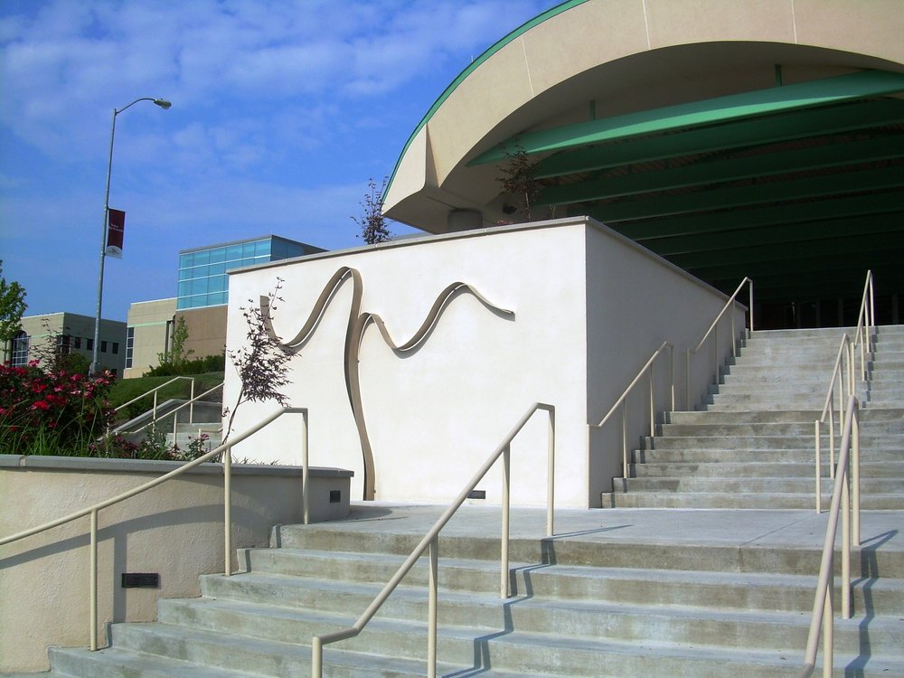 Jubilee  1989, stainless steel, 9x10x.5 ft  Installed in 2008 at Truman Medical Center Lakewood Kansas City, MO