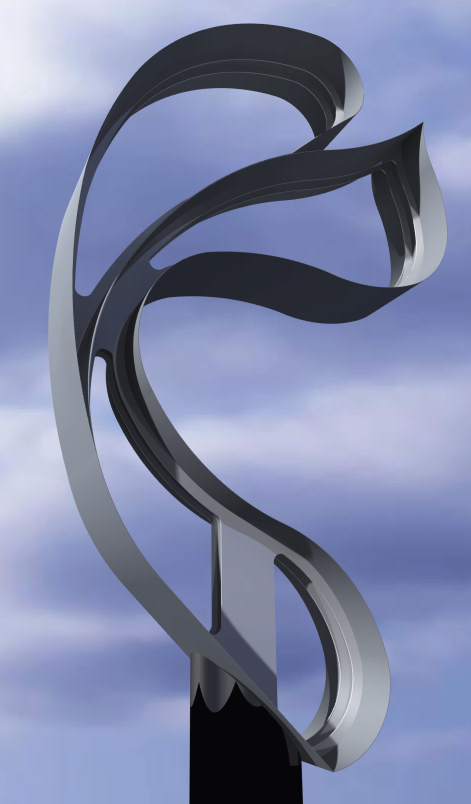 Sending Love  2015, stainless steel, 12 ft  Skywalk Memorial Park 22nd St and Gillham Rd Kansas City, MO