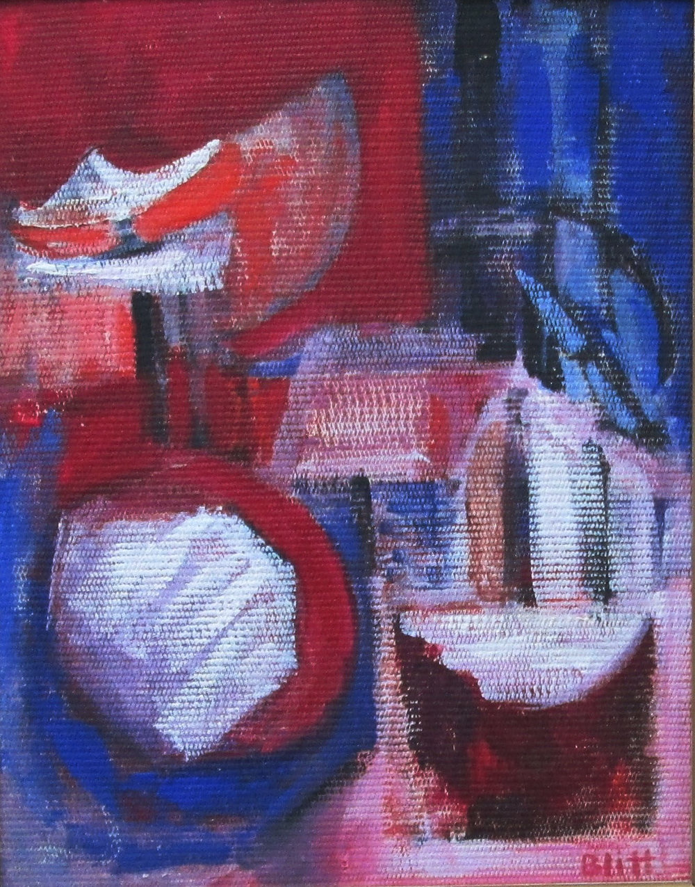 Capturing the Beat of the Drums 1959, acrylic on masonite, acrylic, 20x16 in