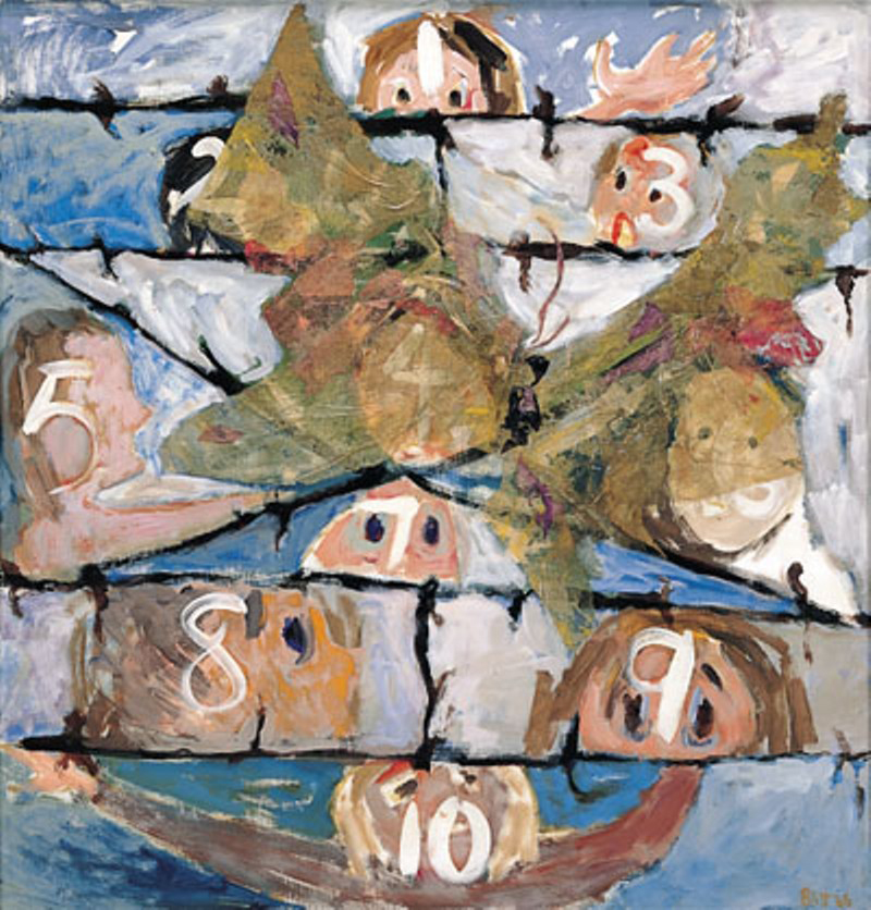 I Never Saw Another Butterfly 1966, acrylic-tissue paper on masonite, 48x48 in