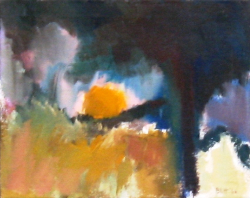 Evening Shadows 1966, acrylic on canvas, 20x24 in