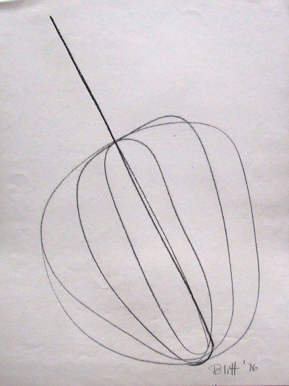 1976.0009 1976, conte crayon on paper, 24x18 in