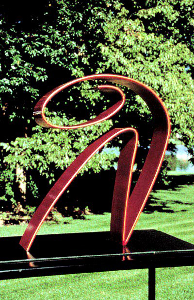 Repose 1987, painted steel, 23x20x5 in