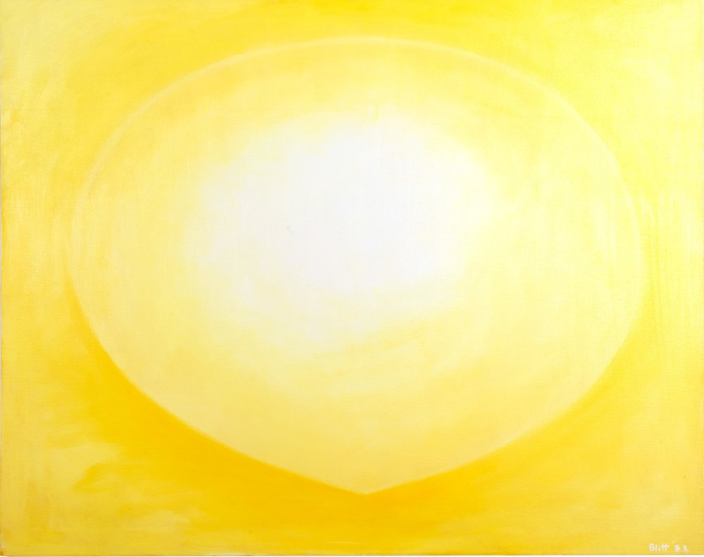 Finding Center 1983, oil on canvas, 44x60 in