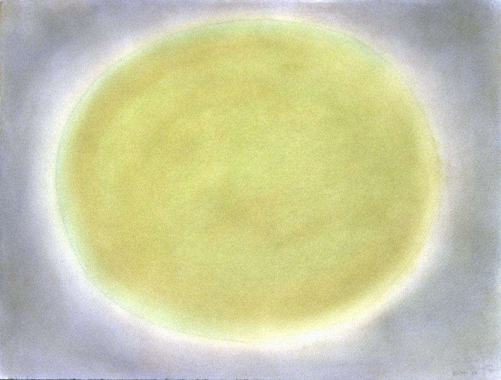 Oval 1984, pastel on paper, 22x30 in