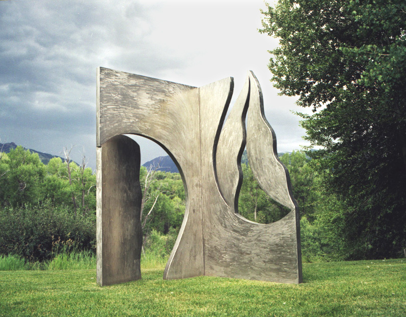 Seekign Truth 1992, stainless steel, 102, 90x48 in