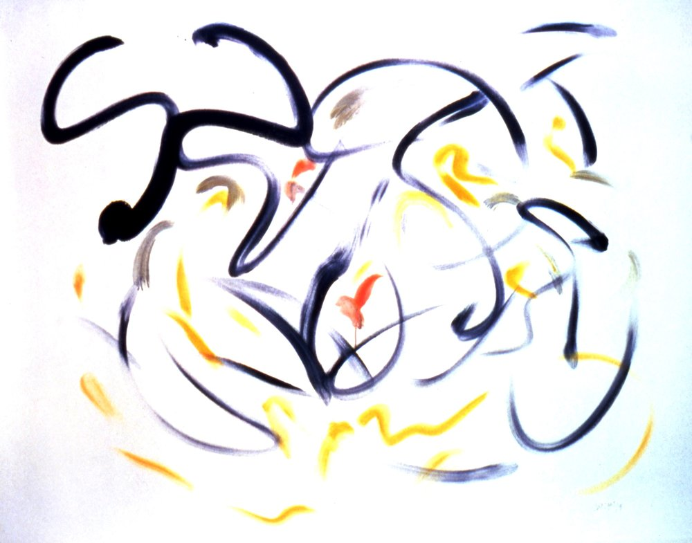 Fire Bird (Beethoven) 1999, acrylic-oil on canvas, 50x60 in