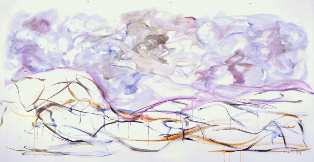 Winds of Change 2004, acrylic on canvas, 54x108 in