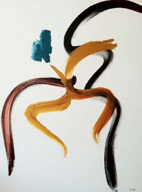 Happiness I 2011, acrylic on canvas, 40x30 in