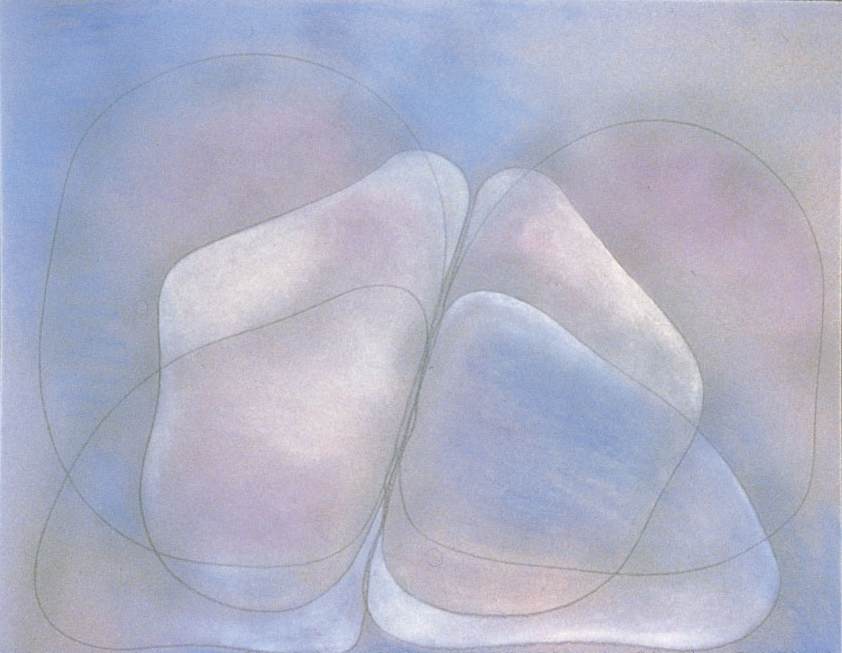 Mysterious Moment 1981, pastel on board, 30x42in
