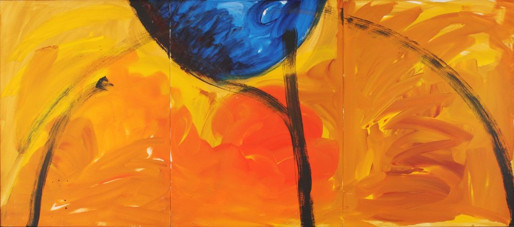 In Fear of War VI  1991, acrylic on masonite, 32x72 in In the collection of the Dallas Holocaust Museum