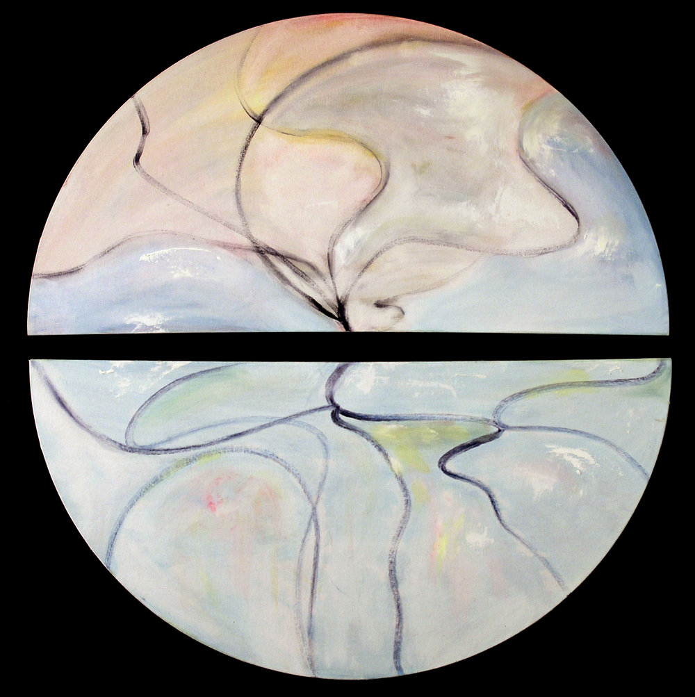 Heavenly Moment 2006, acrylic on canvas, 36 in (diameter)