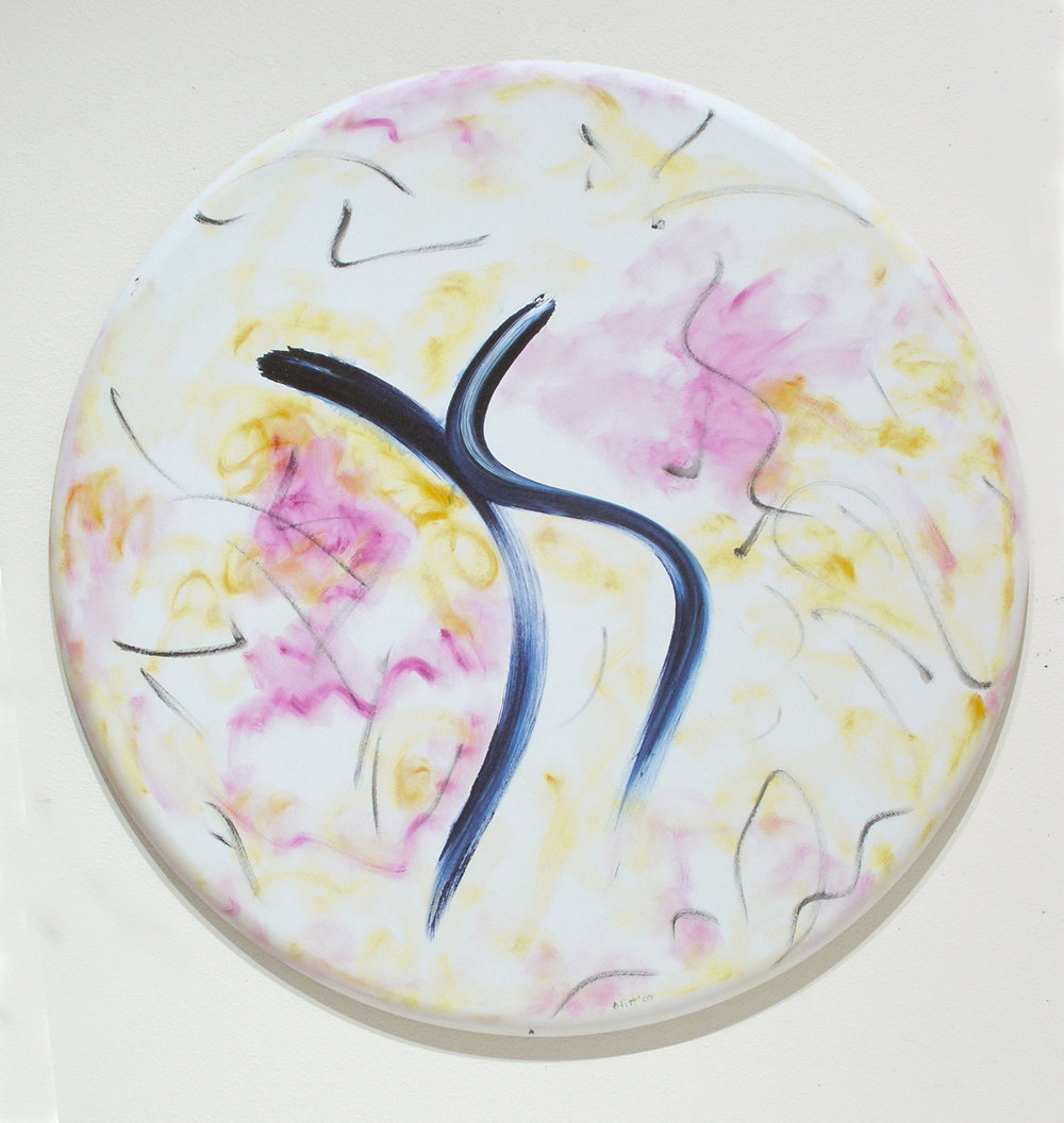 Let's Dance  2006, oil-acrylic on canvas, 42 in (diameter)