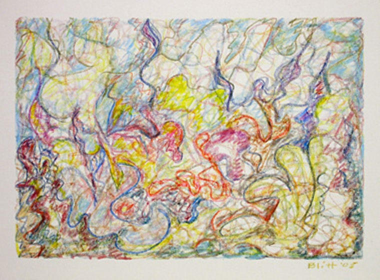 Visual Rhythms 2005, oil-oil pastel on canvas, 18x24 in
