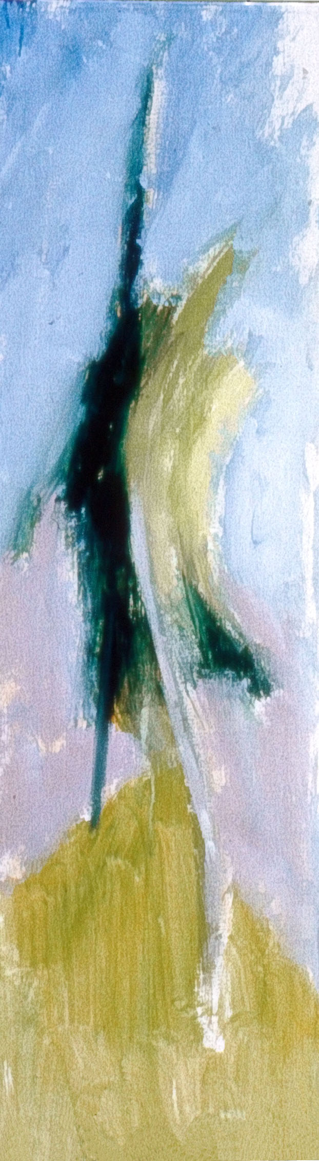 Irwin and I  1962, acrylic on canvas, 42x12 in