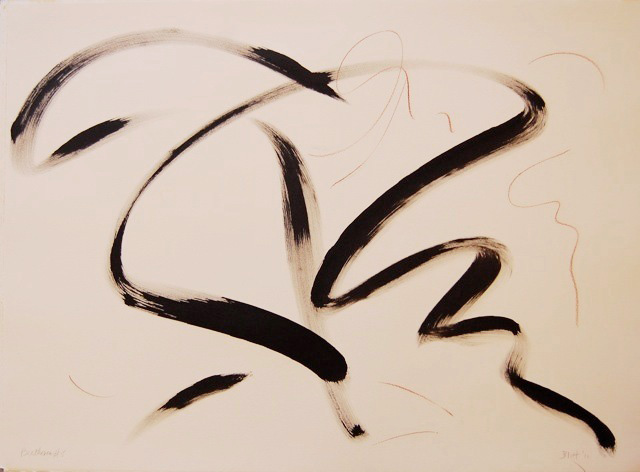Beethoven's Fifth II  2011, ink and conte on paper, 22x30
