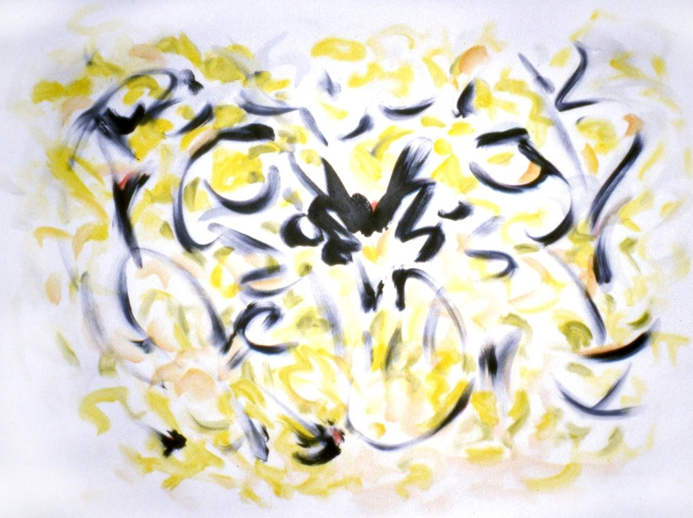 Tarantella 1999, acrylic-oil on canvas, 54x72 in