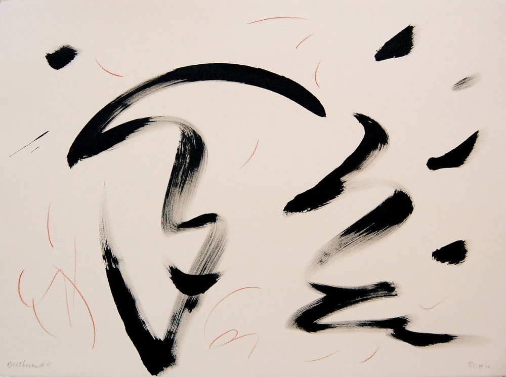 Beethoven's Fifth VIII  2011, ink and conte on paper, 22x30