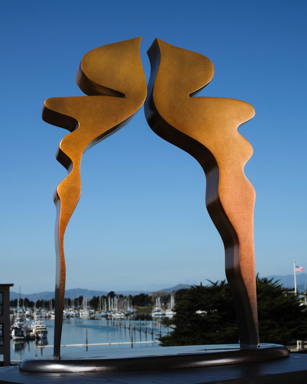 Gateway to Love  2013, bronze, 20x13x3.5 in