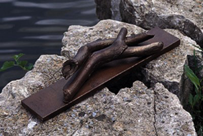 Embrace  1992, bronze, 13x17x4 in