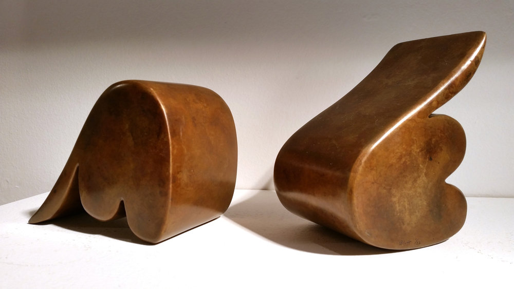 Soulmates  2014, bronze, 5.25x4x3 in