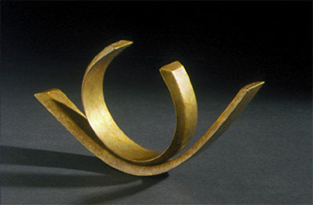 Passionate Gesture III  2000, bronze, 9x5x1.5 in
