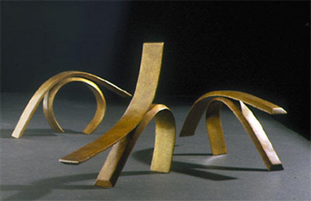 Passionate Gesture III, IV, II  2000, bronze
