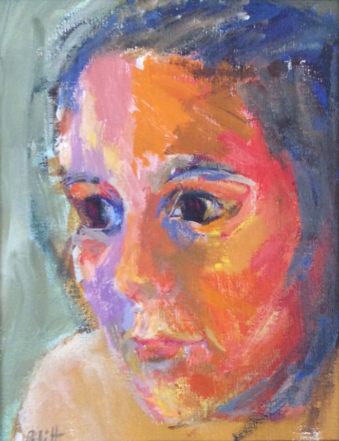 Connie (Chela)  1964, acrylic on canvas, 10x8 in