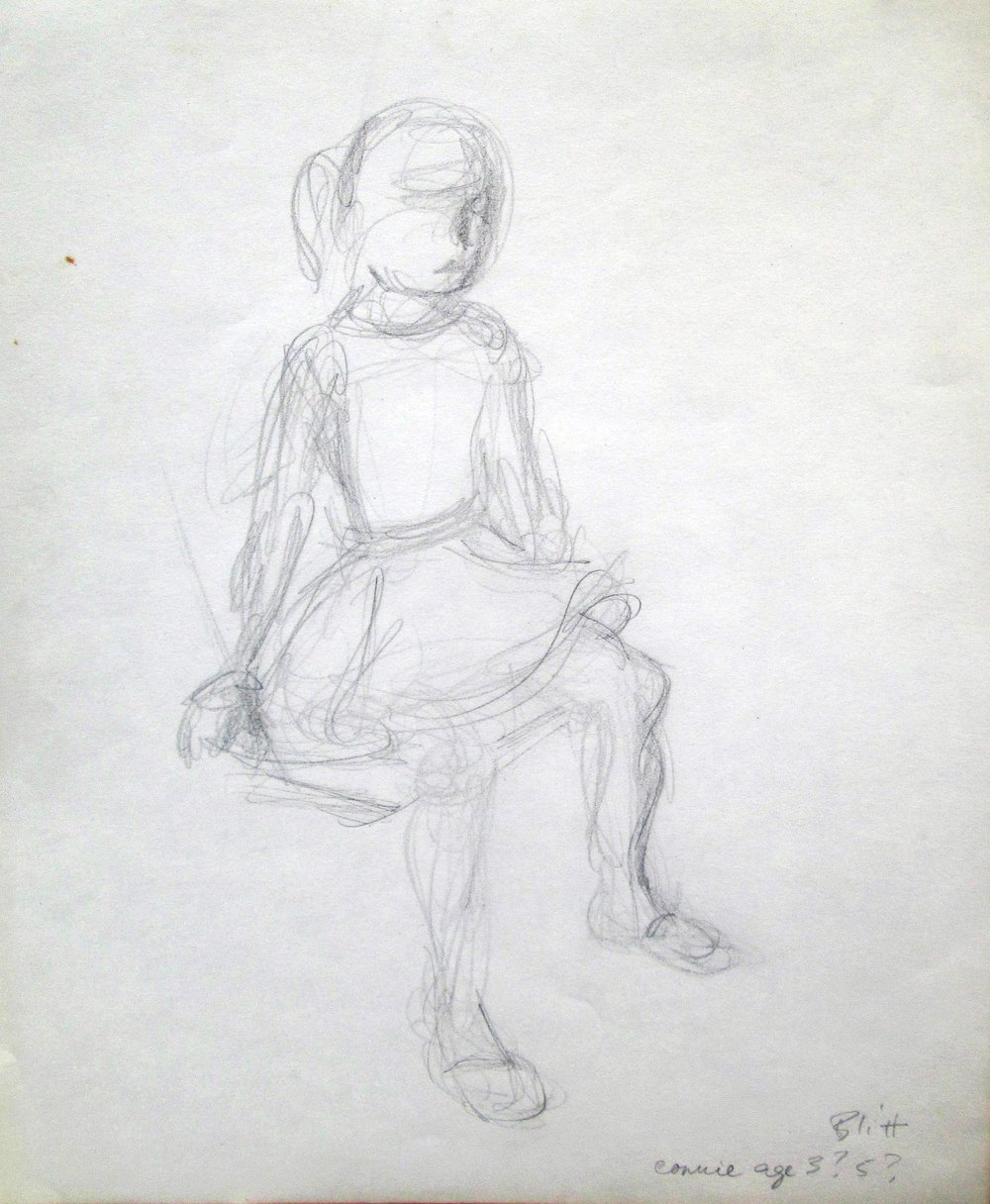 Connie Chela  1958, pencil on paper, 14x11 in