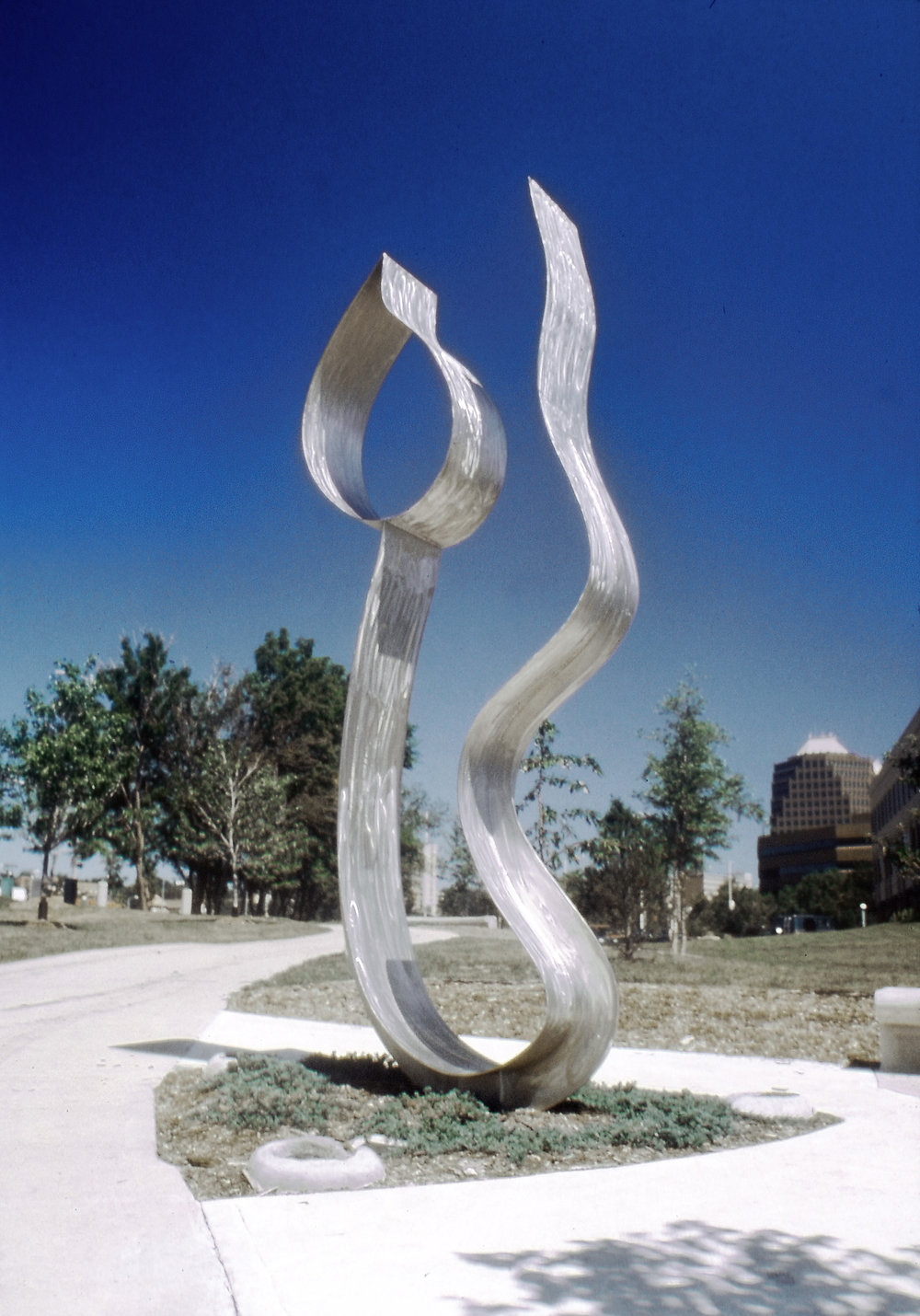 Spirit's Delight  1991, stainless steel, 12x6x.5 ft  Kansas City, MO