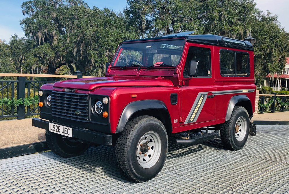 """1993 Land Rover Defender 90 - All original Defender, imported from London, England. These diesel motors are bullet proof & this design has proved to be timeless. This Defender """"county"""" is ready to go, freshly serviced, new tires and clean chassis & body. 135,000 milesAvailable for $24,000. email twopencemotorbikes@gmail.com if interested in viewing."""