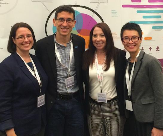 (De gauche à droite: Christine Marcotte, Dr Steven Miller, Dre Annette Majnemer, To Nhu Nguyen)