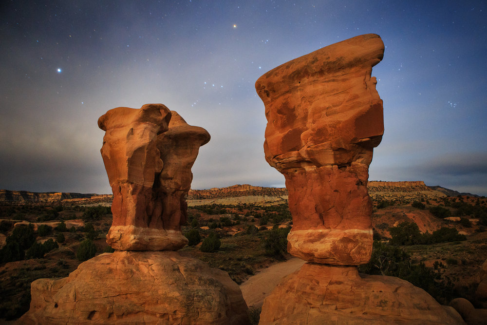 Full Moon Devil's Garden Hoodoos